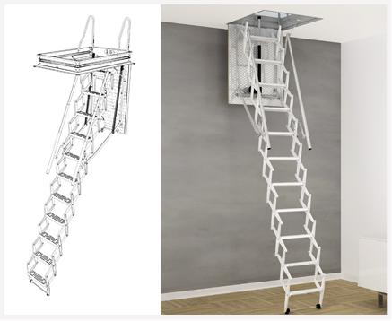 Scari scale lo specialista delle scale retrattili for Scala per soffitta