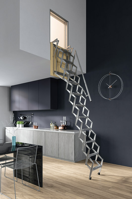Favorit Escalier escamotable mural, escalier escamotable vertical XL11