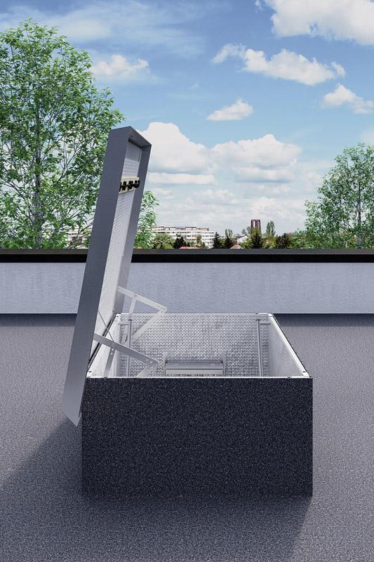 Scala retrattile da terrazza, scala per terrazzo a pantografo