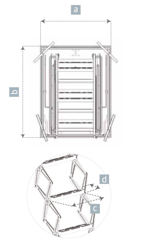Escalera Escamoteable Para Buhardillas Escalera Retr Ctil Para Techo ~ Dimensiones Escalera De Caracol