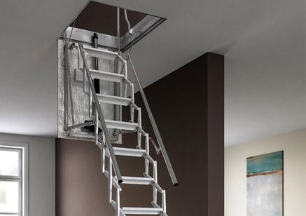 Escaleras retr ctiles escaleras escamoteables motorizadas for Escaleras retractiles