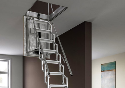 Scari Retractable Stairs Motorised And Manual Folding Stairs