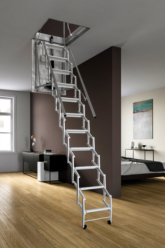 Electric And Insulated Scissor Loft Ladder