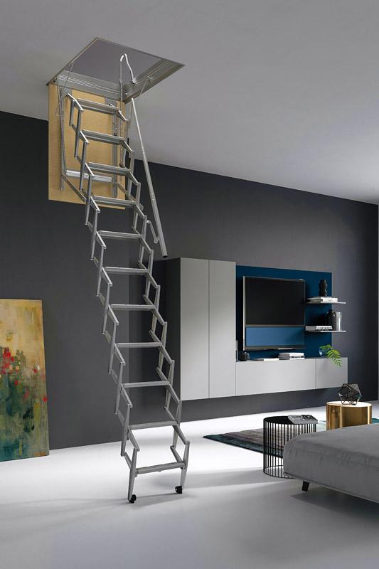Scissor Loft Ladder Retractable Ladder Concertina