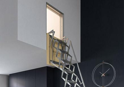 Escalera escamoteable para pared escalera escamoteable for Escalera escamoteable
