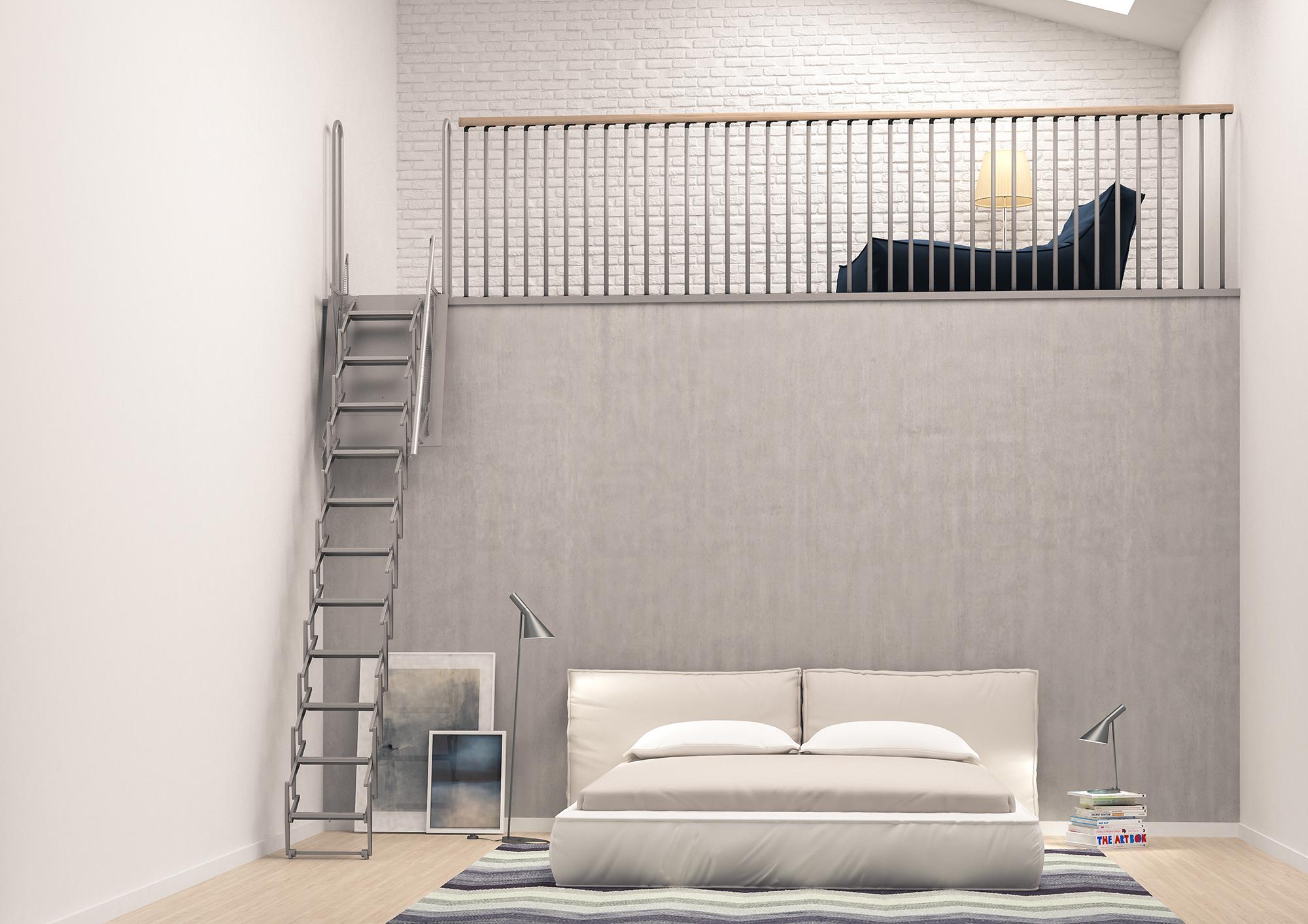 Scari scale retrattili e rientranti motorizzate e manuali - Scale a parete ...