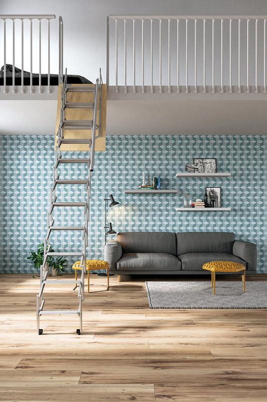 Escalera escamoteable para altillos palco scari scale for Escalera escamoteable