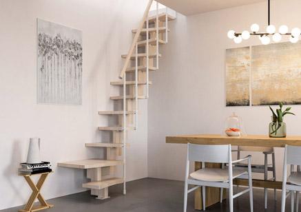 Escalera ahorra espacio escalera para espacios reducidos for Scala per soffitta
