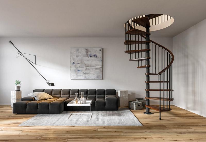 Spiral staircase spiral stair made in italy - Scale a chiocciola salvaspazio ...